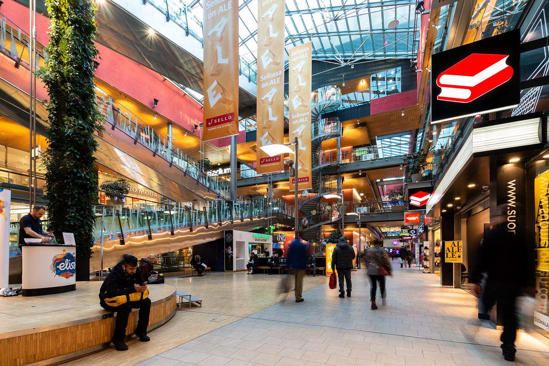 Toimitilat Espoo | Kauppakeskus Sello | sisäkuva